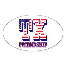 Texas TX Friendship Decal