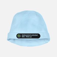 Woke up - Achievement unlocked baby hat