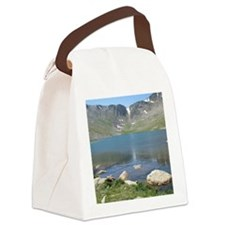Summit Lake Mt. Evans 2 Canvas Lunch Bag