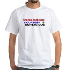 Courtesy is Contagious White T-shirt