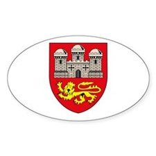 Norwich City Coat of Arms Oval Decal