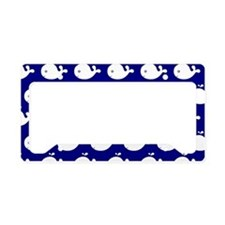 Navy Blue and White Cute Whim License Plate Holder
