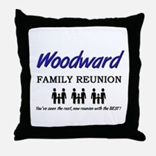 Woodward Family Reunion Throw Pillow