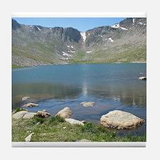Summit Lake Mt. Evans 2 Tile Coaster