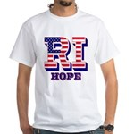 Rhode Island RI Hope White T-Shirt