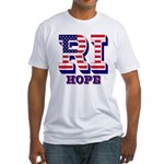 Rhode Island RI Hope Fitted T-Shirt