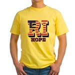 Rhode Island RI Hope Yellow T-Shirt