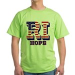 Rhode Island RI Hope Green T-Shirt