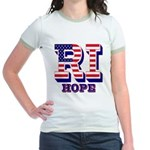 Rhode Island RI Hope Jr. Ringer T-Shirt