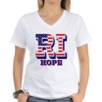 Rhode Island RI Hope Women's V-Neck T-Shirt