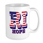 Rhode Island RI Hope Large Mug