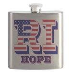 Rhode Island RI Hope Flask