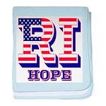 Rhode Island RI Hope baby blanket