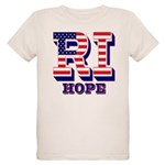Rhode Island RI Hope Organic Kids T-Shirt
