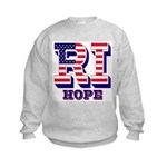 Rhode Island RI Hope Kids Sweatshirt