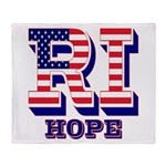 Rhode Island RI Hope Throw Blanket