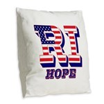 Rhode Island RI Hope Burlap Throw Pillow