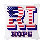 Rhode Island RI Hope Woven Throw Pillow