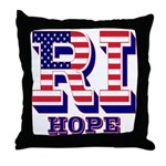 Rhode Island RI Hope Throw Pillow