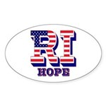 Rhode Island RI Hope Sticker (Oval 10 pk)
