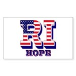 Rhode Island RI Hope Sticker (Rectangle 10 pk)