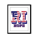 Rhode Island RI Hope Framed Panel Print