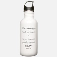 Cute Living on a prayer Water Bottle