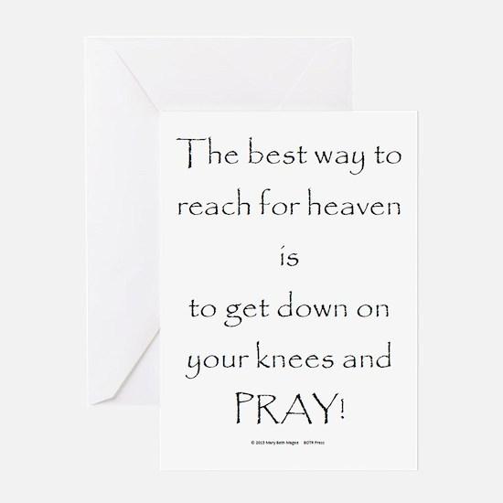 Cute Living on a prayer Greeting Card