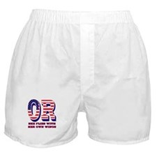 Oregon OR She Flies With Her Own Wing Boxer Shorts
