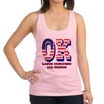 Oklahoma OK Labor Conquers All Racerback Tank Top