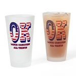 Oklahoma OK Labor Conquers All Thin Drinking Glass
