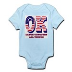 Oklahoma OK Labor Conquers All Thi Infant Bodysuit