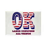 Oklahoma OK Labor Conq Rectangle Magnet (100 pack)