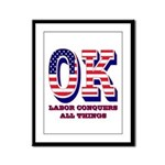 Oklahoma OK Labor Conquers All Framed Panel Print