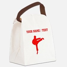 Red Karate Kick Silhouette (Custom) Canvas Lunch B