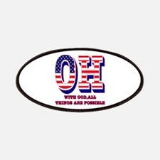 Ohio OH With God All Things Are Possible Patches