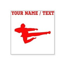 Red Jump Kick Silhouette (Custom) Sticker