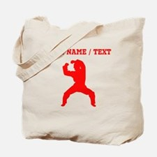 Red Martial Artist Silhouette (Custom) Tote Bag