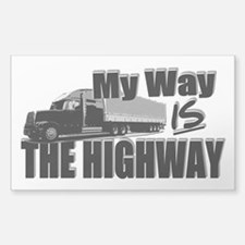 My Way is the Highway Sticker (Rectangle)