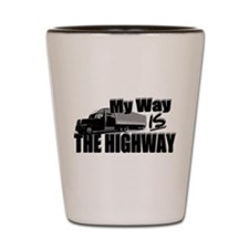 My Way is the Highway Shot Glass