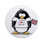 UK Penguin Ornament (Round)
