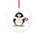 Switzerland Penguin Ornament (Round)