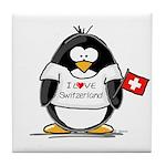Switzerland Penguin Tile Coaster