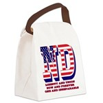 North Dakota ND Liberty And Union Canvas Lunch Bag