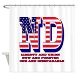 North Dakota ND Liberty And Union N Shower Curtain