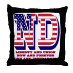 North Dakota ND Liberty And Union Now Throw Pillow