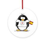 Spain Penguin Ornament (Round)