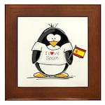 Spain Penguin Framed Tile