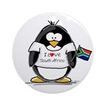 South Africa Penguin Ornament (Round)