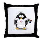 South Africa Penguin Throw Pillow